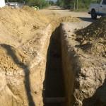 Construcción de la red de drenaje